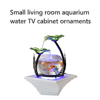 Small living room aquarium  water TV cabinet ornaments